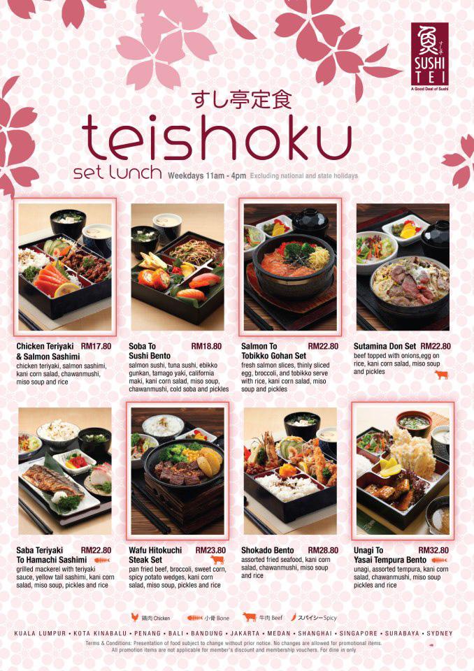 2017 fashion australia - Setiawalk Retail Special Offers Sushi Tei Teishoku Set Lunch